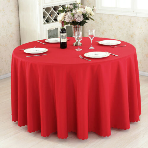 Round Tablecloth Large Table Cloth For Banquet Wedding Hotel Party Banquet Event