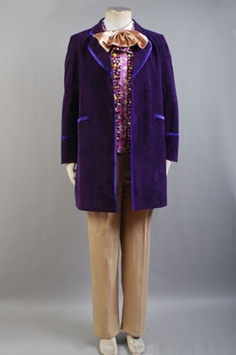 Willy Wonka and the Chocolate Factory Cosplay Tuxedo Coat Halloween Suit Costume