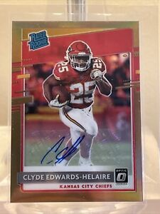 Clyde Edwards-Helaire 2020 Donruss Optic Rated Rookie Auto Bronze Card #171 🔥