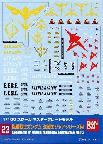 Bandai Gundam Decal for Chars Counter Attack Series???1/100