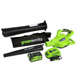 GreenWorks DigiPro G-MAX 40V Cordless 185MPH Blower/Vac With Battery & Charger