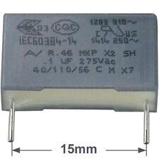 5 St Entstörkondensator AV MKP X2 0,10µF 100nF 275/300VAC RM15 Rohs konform
