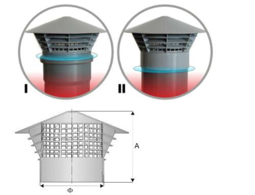 """Cache pour Ventilation Chapeau de Toit /"""" Univent /"""" Dn 160//150 150mm en Tuyau"""