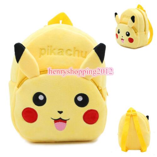 Kids Boys Girls Nursery Toddler Pokemon Go Pikachu Backpacks Schoolbag Mini Bags