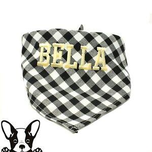 Checks personalised dog bandana