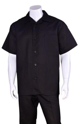 New Men/'s 2 PC Luxury Linen Set Casual// Walking Suit Set M2806L