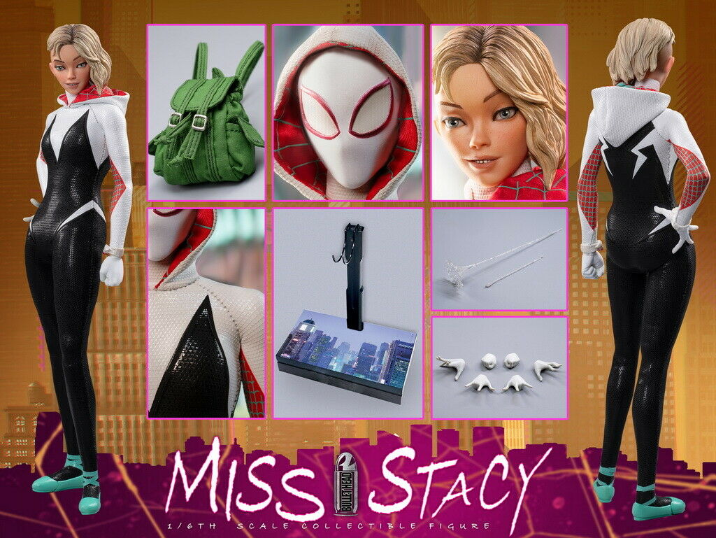 Bullet Head BH005 1 6 Miss Stacy Movable Female 12'' Action Figure Toy
