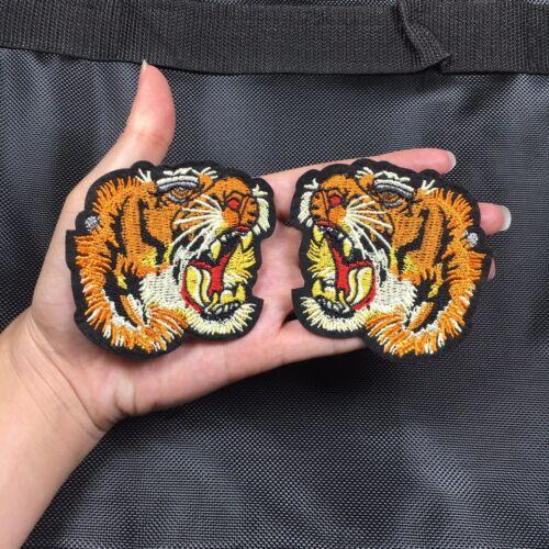 Une paire de petits Tiger Head patch brodé Patch Iron On Patch Sew On Patch