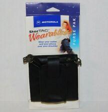 NOS Vtg Motorola StarTAC Black Leather Purse Pak Wallet Retro Flip Phone Case
