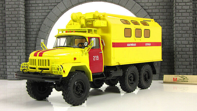 Scale Modelll truck 1 43 ZIL-131 kung Emergency service