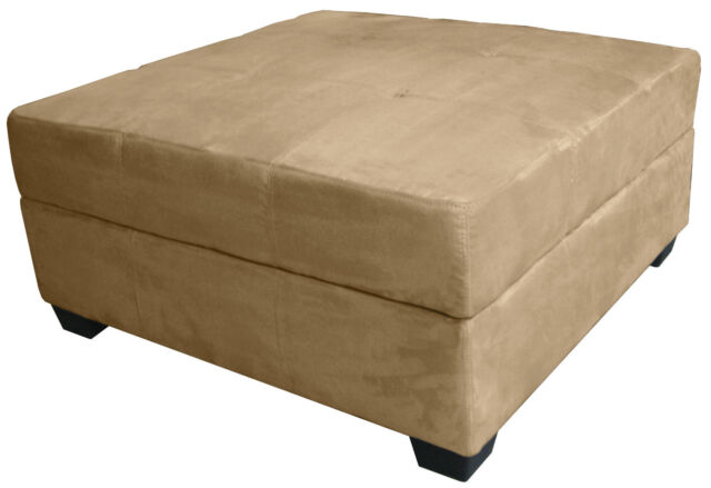 Terrific Large 35 Inch Square Storage Bench And Ottoman Suede Or Leather Choose Color Dailytribune Chair Design For Home Dailytribuneorg