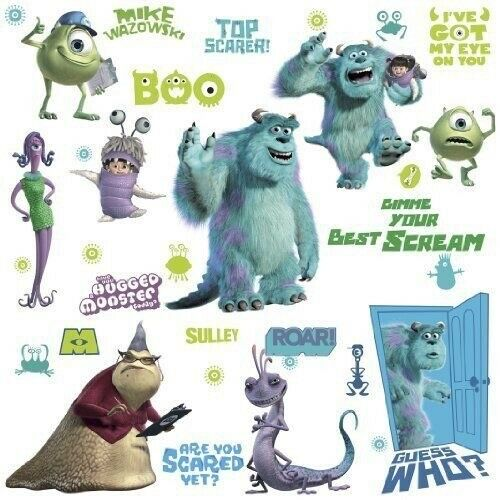 Disney Monsters Inc 31 Wall Decals