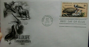 FDC USA Warm Springs 20.9.1972 Wildlife Conservation - Gschwend, Deutschland - FDC USA Warm Springs 20.9.1972 Wildlife Conservation - Gschwend, Deutschland