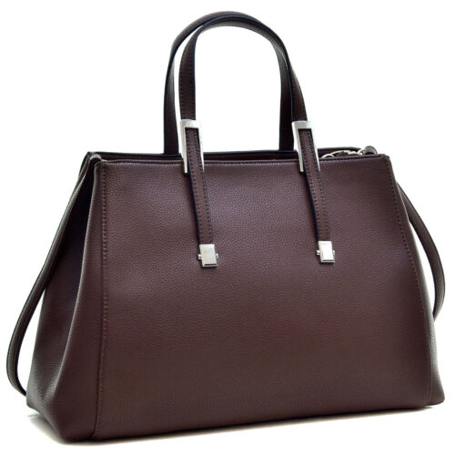 Dasein Women Faux Leather Satchel Handbag Tote Shoulder Bag Briefcase Purse