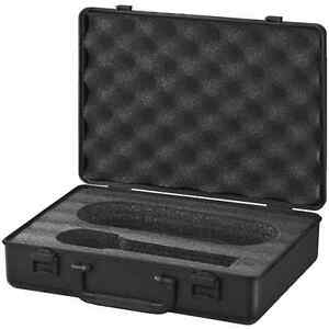 Microphone-carrying-case-box-padded-interior-for-a-handheld-amp-cable-plastic