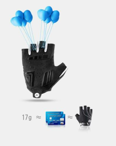 Men Women Cycling Gloves Half Finger Shockproof Wear Resistant Breathable MTB