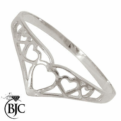 BJC® Sterling Silver 925 Filigree Wishbone Designer Dress Ring Size J -W