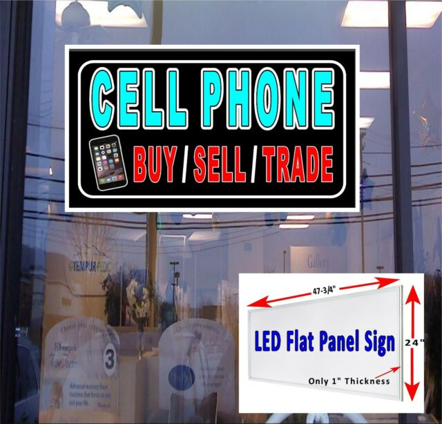 Cell Phone Buy Sell Trade Led Window Sign 48x24 Neon Banner Alternative For Sale Online Ebay