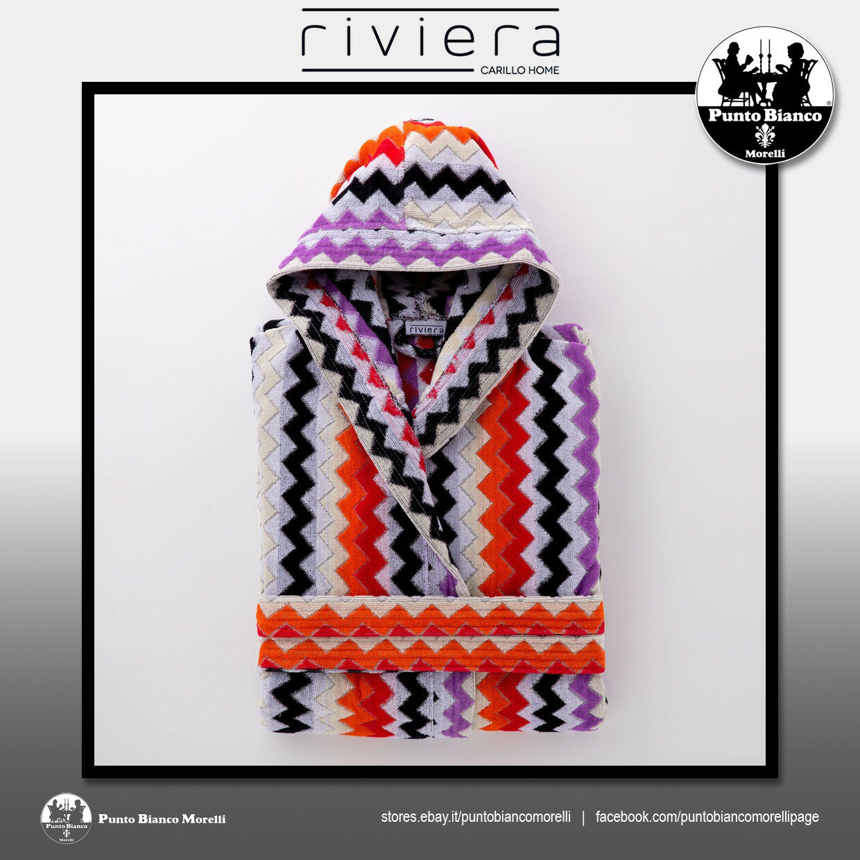 RIVIERA   FASHION ZIG ZAG Accappatoio con cappuccio - Hooded bathrobe
