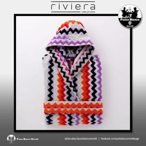 RIVIERA | FASHION ZIG ZAG Accappatoio con cappuccio - Hooded bathrobe