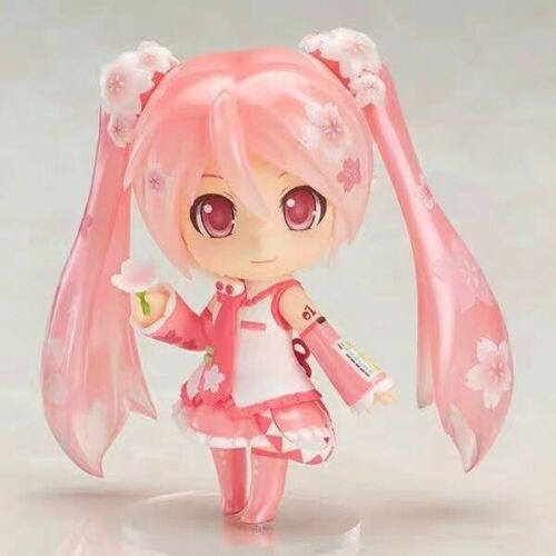 Anime Nendoroid 500# Hatsune Miku Sakura Miku PVC Action Figure Model new In Box