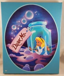 Disney D23 Expo 2015 Alice Drink Me - Bridget Mccarty Signé Giclée Toile #1/95