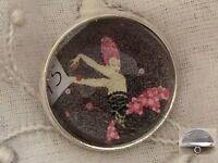 Erte Art Deco Fashion Design Stunning Woman 3/4 Crystal Sewing Button Er34