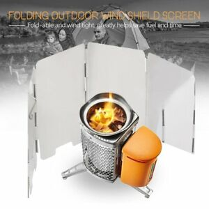 9-Plates-Gas-Stove-Wind-Shield-Screen-for-Outdoor-Camp-Picnic-Cooker-Foldable-AU