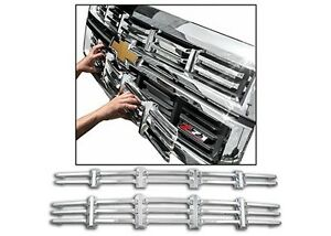 NEW! Chrome Grille Overlay (2 PCS) FIT 2014 2015 Chevy Silverado 1500 Z71 ONLY!
