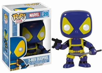 "Approx. FUNKO 4/"" Vinyl Bobble-Head Figure MARVEL X-MEN Blue /& Yellow DEADPOOL"
