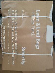 12ct Smartly Lawn & Leaf Garden Refuse Bags Composting & Yard ...