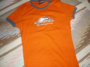 b717a016 Women's Harley Davidson Screamin' Eagle Orange T-Shirt • Size S | eBay