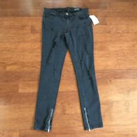 Women's Bongo Destroyed Black Skinny Jeans, Size 5, With Tags