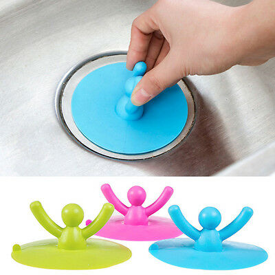 Kitchen Water Sink Drainer Strainer Silicone Stopper Plug Disposal Drain Cover