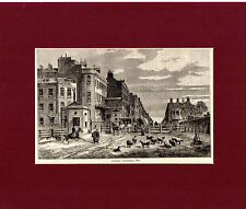 ANTIQUE WOODCUT PRINT - TYBURN TURNPIKE, 1820- CASSELL'S OLD & NEW LONDON (1880)