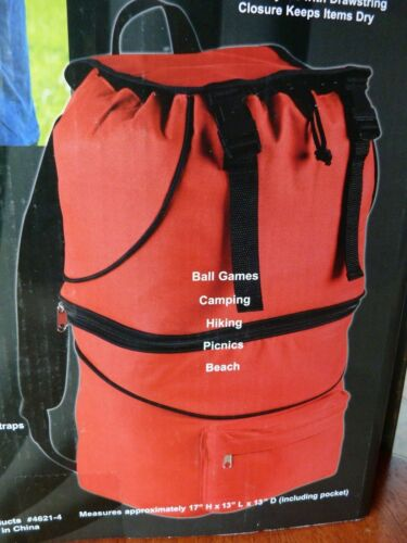 NEW Backpack Cooler Outdoor Ball Games Camping Hiking Picnics Beach BLUE OR RED