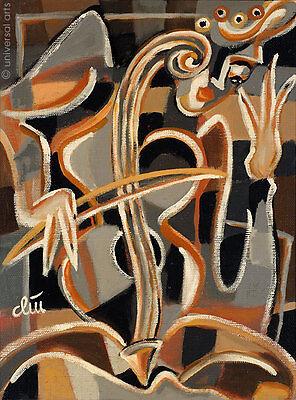 JACQUELINE DITT - Das nackte Cello A4 DRUCK n.Gemälde Bild naked cello Bilder