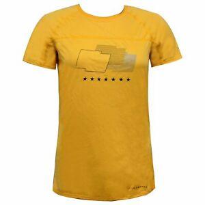 Nike Live Strong Womens Running Top Gym Training T-Shirt Yellow 481573 703 A59E