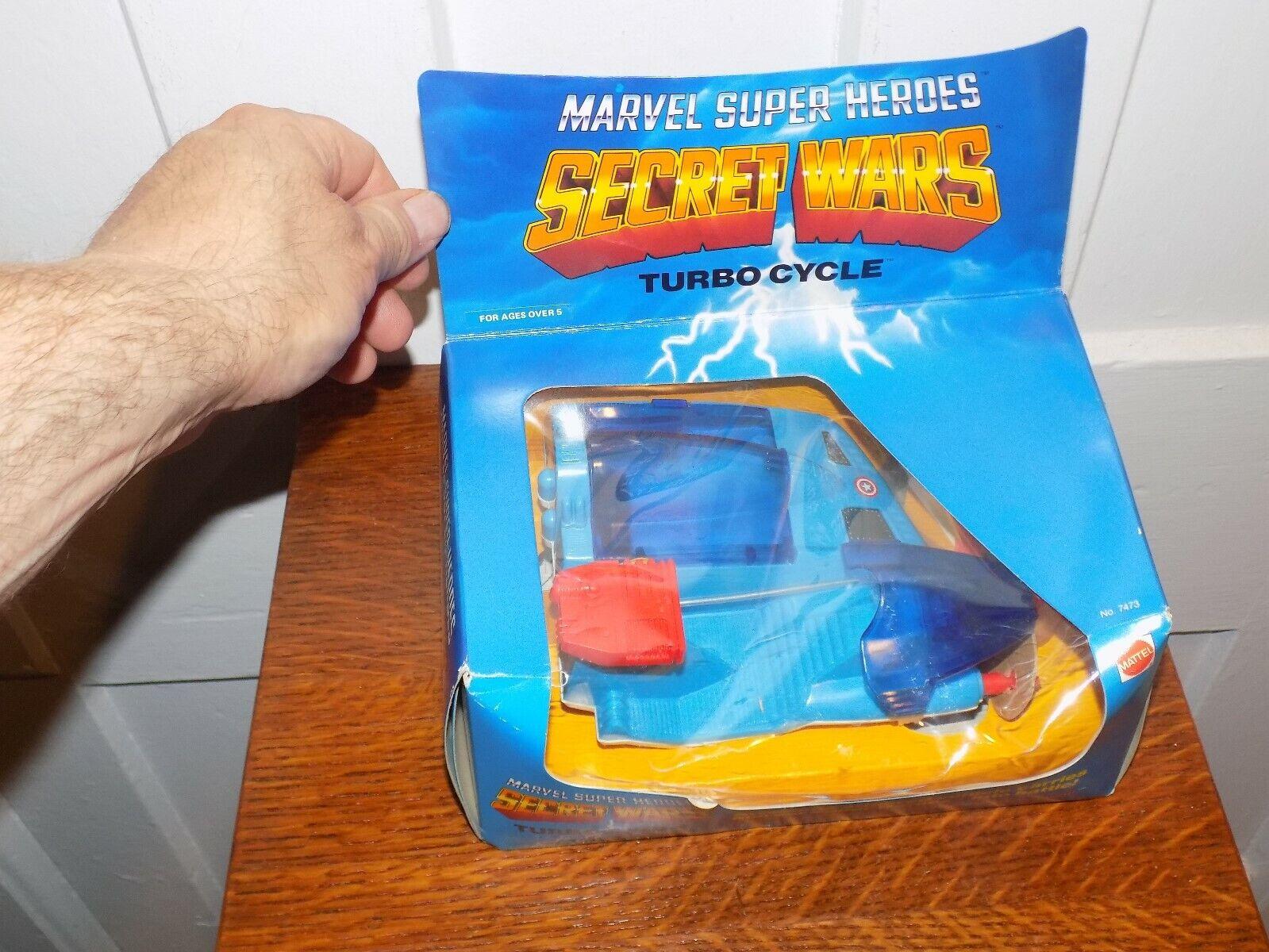 Marvel súper Heroes Secret Wars Turbo ciclo en Caja 1984