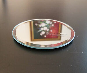 Beveled mirror 4 inch round glass coaster jewelry for Small round craft mirrors