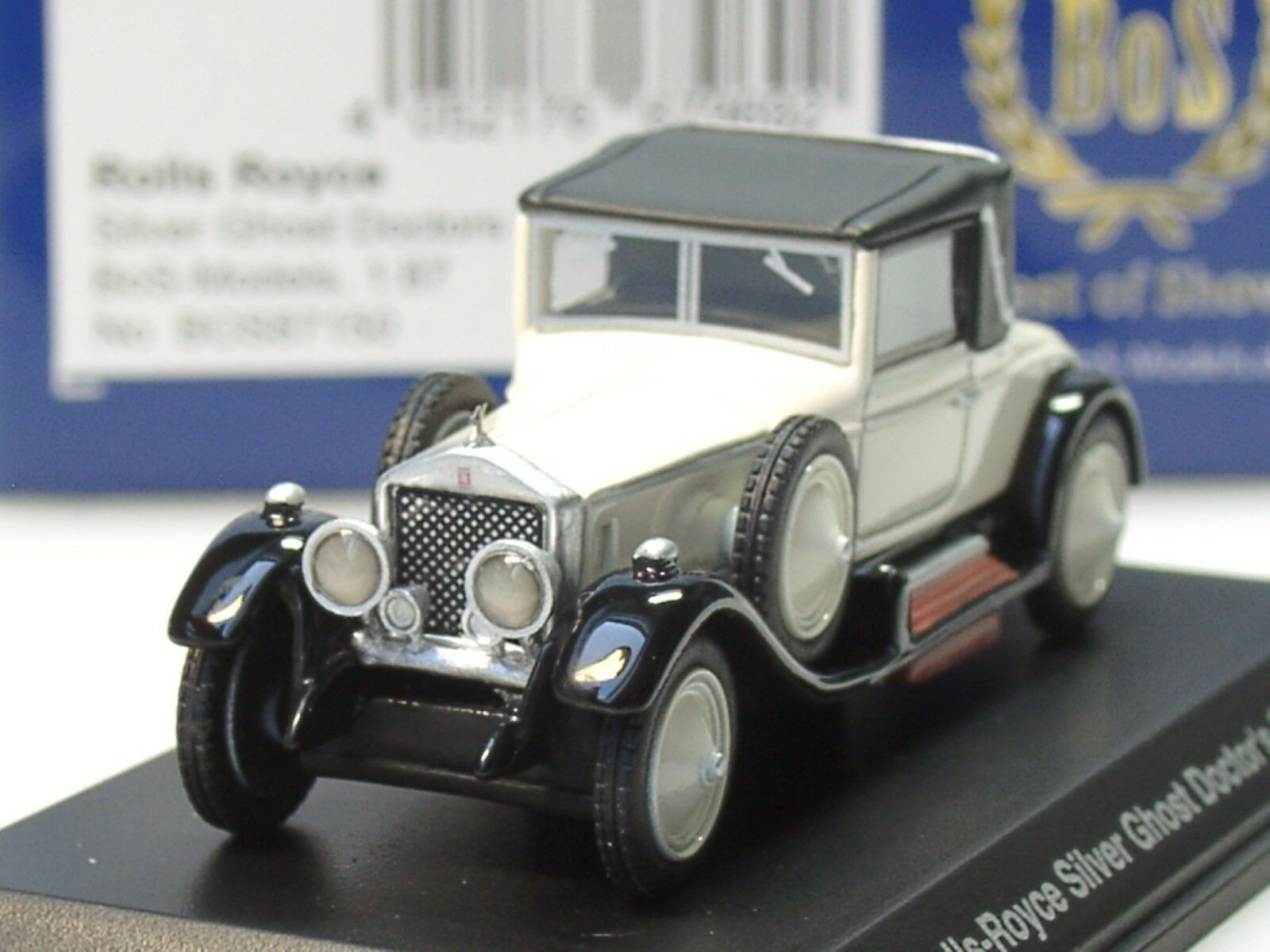 Bos Rolls Royce Silver Ghost Doctors Coupe 1 87 Blanc 87150 1