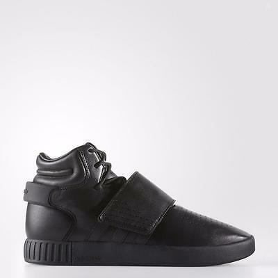 sneakers for cheap 94ca4 79bc3 ADIDAS ORIGINALS TUBULAR INVADER STRAP BW0871 CORE BLACK/UTILITY BLACK -  LEATHER | eBay
