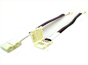 4-PIEZAS-Conector-10mm-Para-Conectar-Dos-Tira-De-Led-Smd-RGB-5050-Sin-Soldar