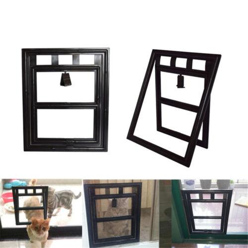 2 Way Lockable Pet Safe Security Brushy Flap Screen Cat Dog Access Door Frame