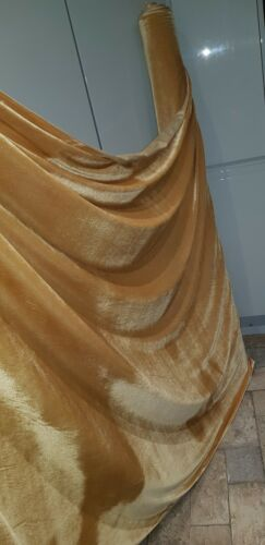 3m Oro Amarillo Oro Strech Terciopelo//Velvet Dress Tela 58 Inces amplia
