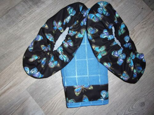 BOWLING SHOE COVERS W//TOWEL BUTTERFLY THEME