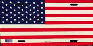 USA American Flag License Plate Tag for Car Truck Made In U.S.A.