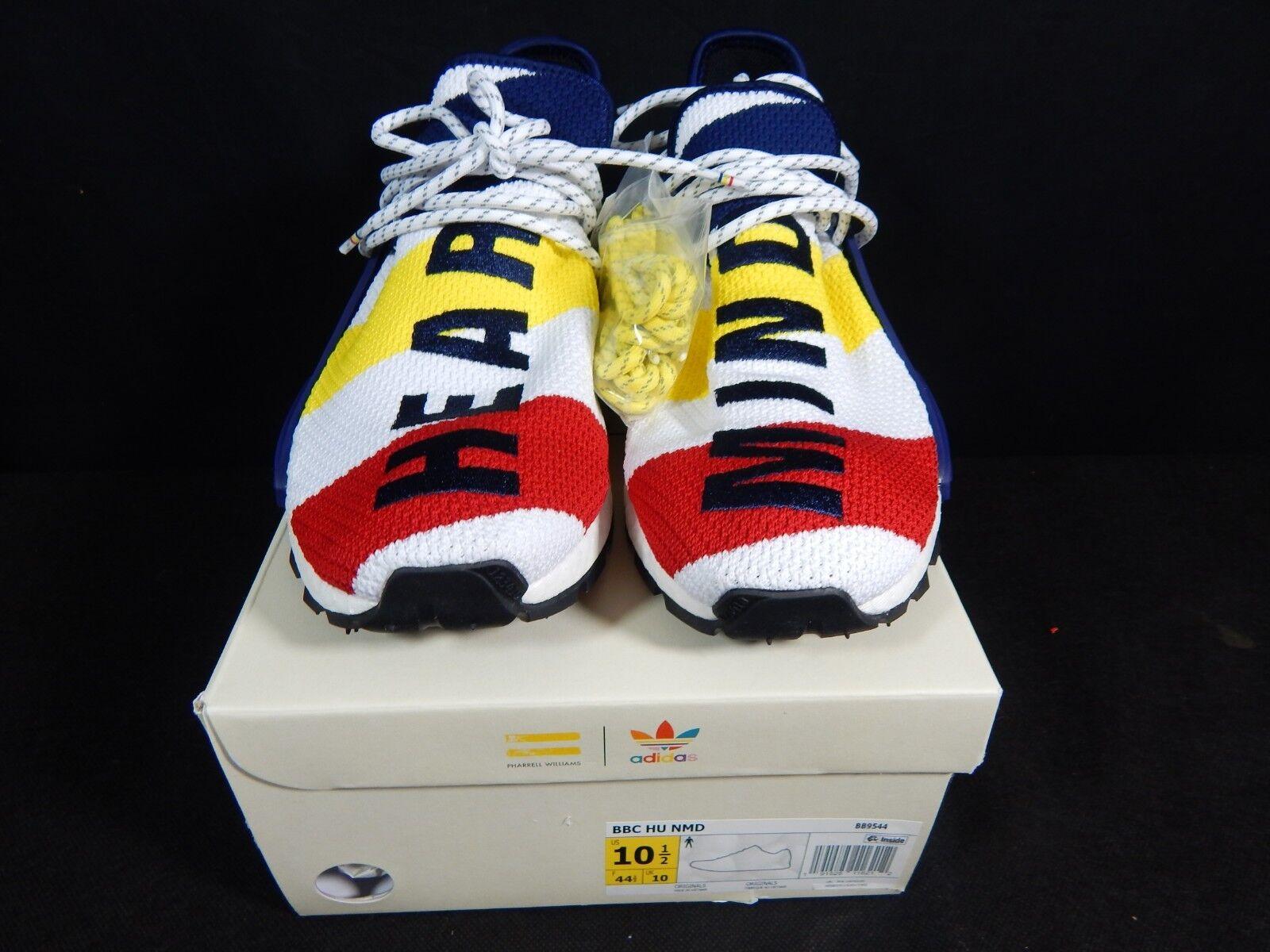 Adidas NMD Hu Pharrell x BBC Size 10.5 Billionaire Boys Club Multi-color IN HAND