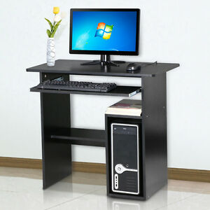 stylish home office wooden computer desk study workstation