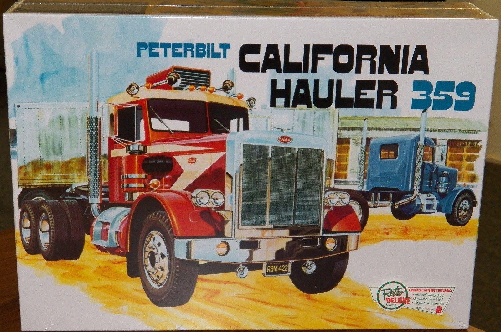 AMT 866 Peterbilt 359 California Hauler Conventional Cab plastic model kit 1 25